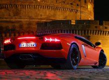 Фото Lamborghini Aventador ночью