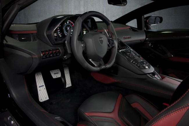 Тюнинг салона Lamborghini Aventador от Mansory