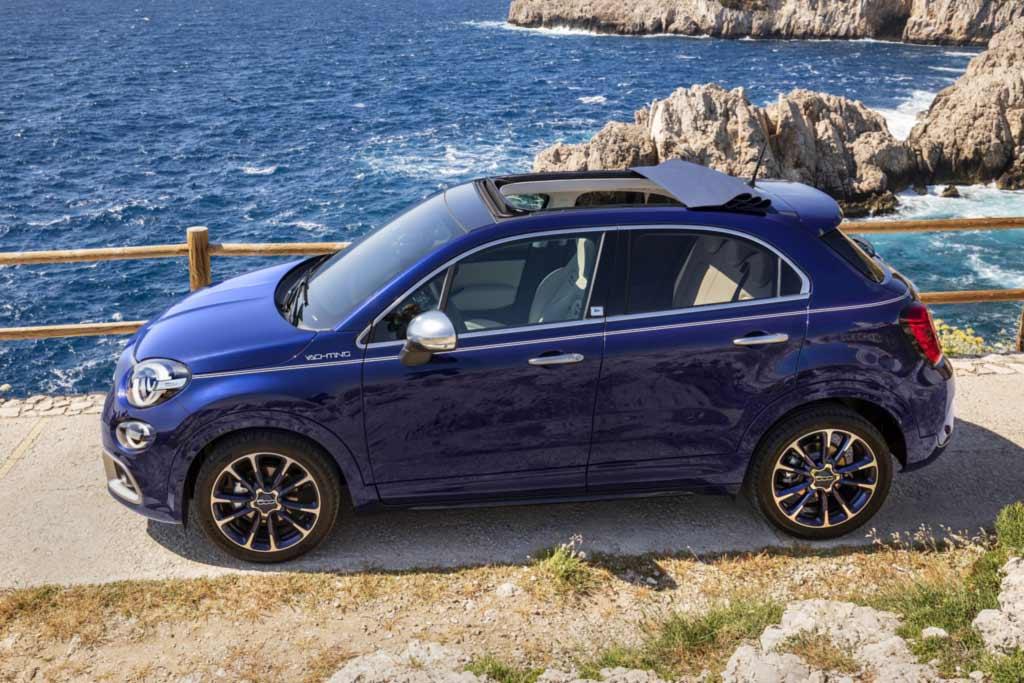 Fiat 500X Yachting: новая модификация модели со складным мягким верхом