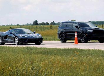 Corvette C8 vs Durango HPE1000