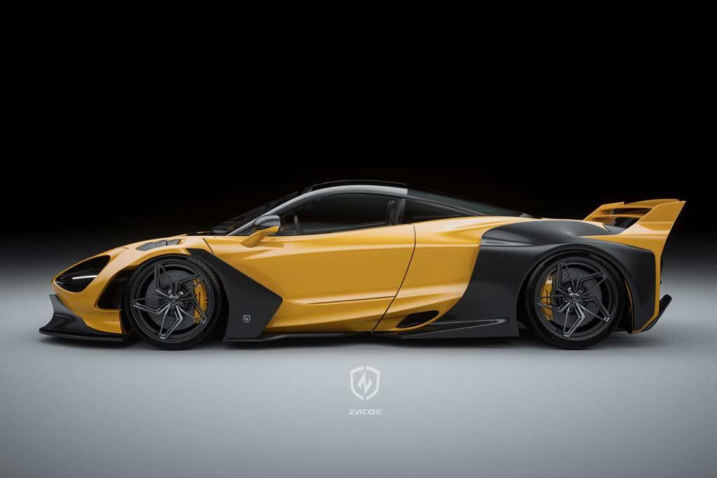 Малоизвестная фирма заявила о себе сумасшедшим обвесом для McLaren 720S