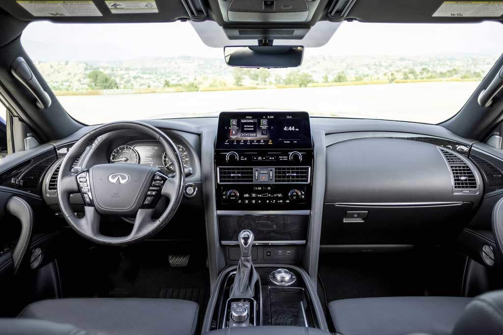 Infiniti QX 2022 модельного года получил новую центральную консоль