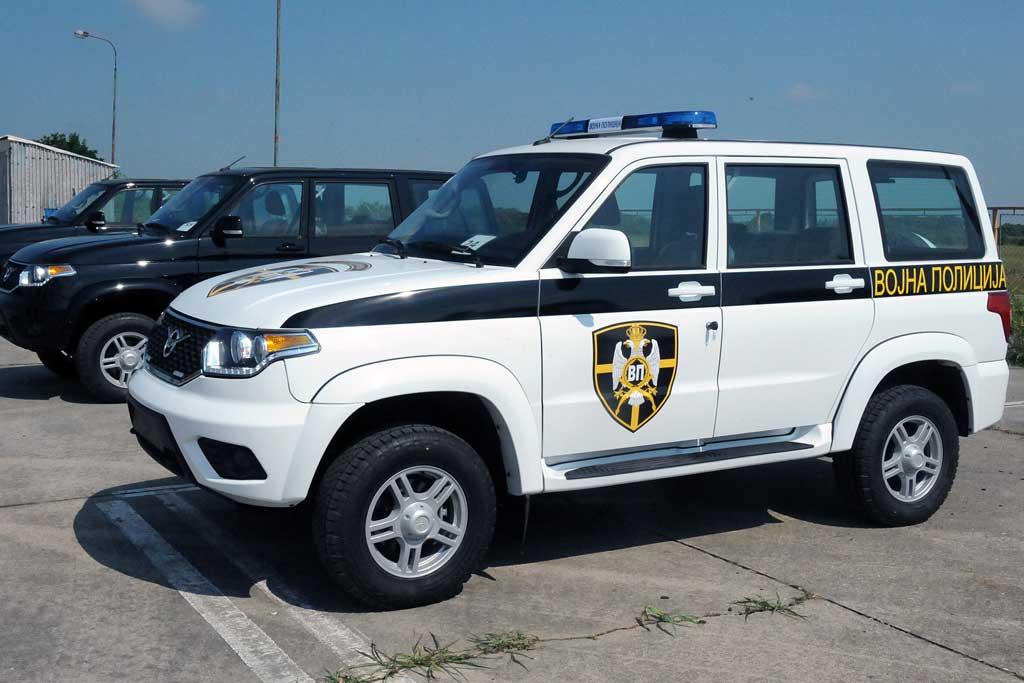 Военная полиция Сербии приступила к эскплуатации УАЗ Патриот