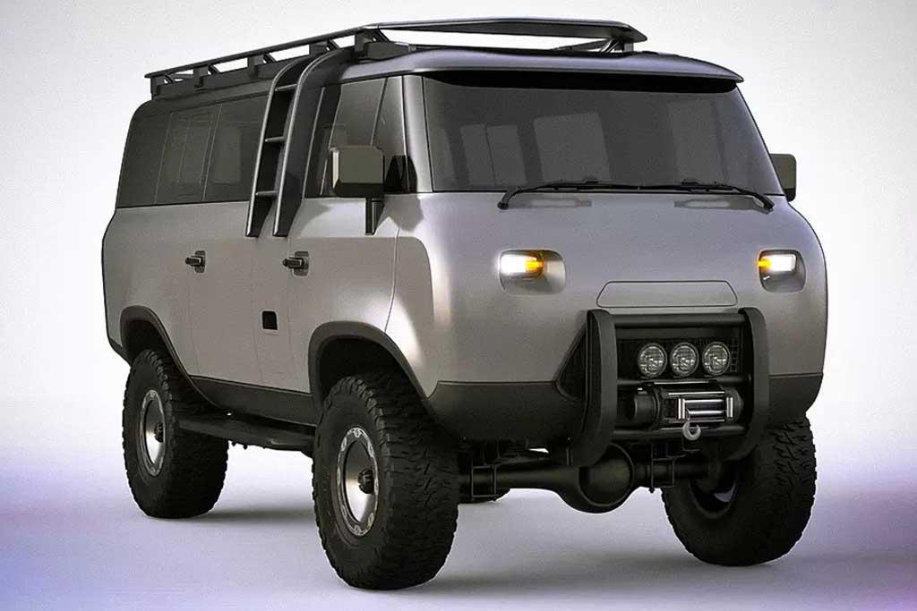 «Буханка» из будущего: дизайнер освежил внешность УАЗ-452