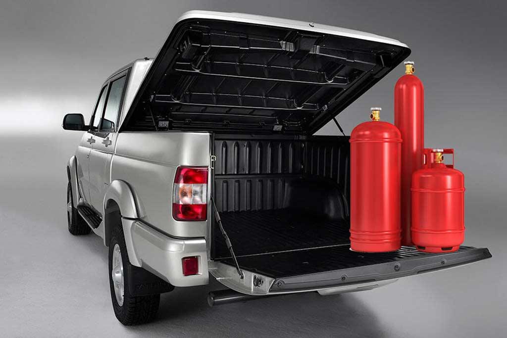 UAZ Patriot и Pickup получили версию CNG: их можно заправлять газом