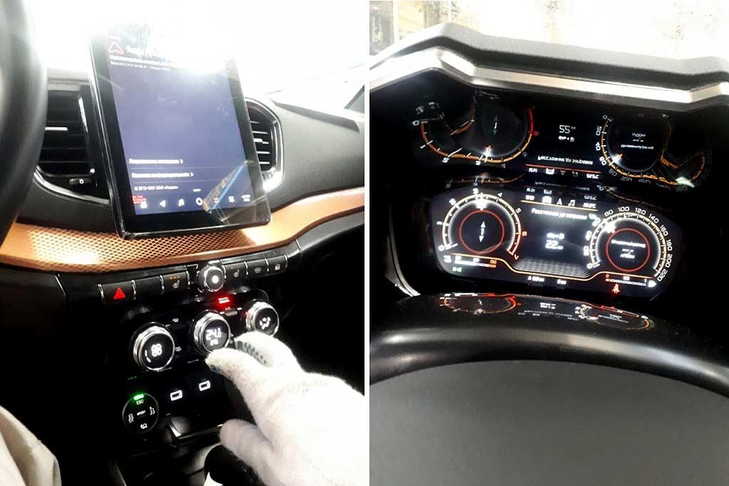 Фотошпионы рассекретили салон Lada Vesta FL: внутри много интересного