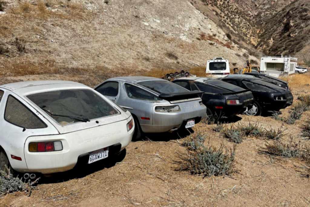 В пустыне найдена заброшенная коллекция из тринадцати спорткаров Porsche 928