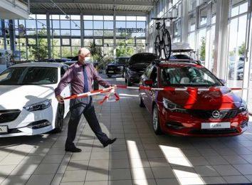 Продажи новых авто в Европе