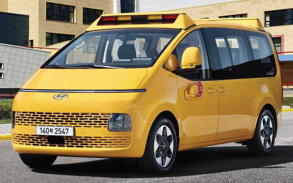 Hyundai Staria Kinder адаптировали для безопасной перевозки школьников