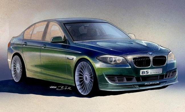 Тизер новой BMW Alpina B5 F10 Bi-Turbo