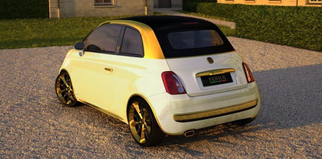 Fiat 500C La Dolce Vita Gold and Diamonds