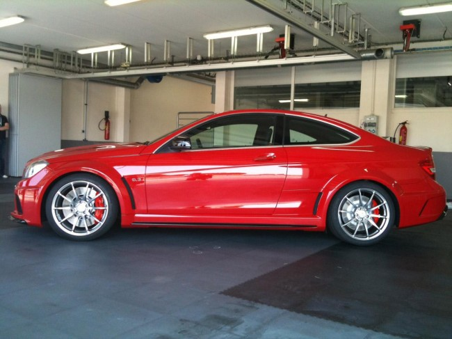 C63 AMG Black Series Coupe засветился в Поль Рикар