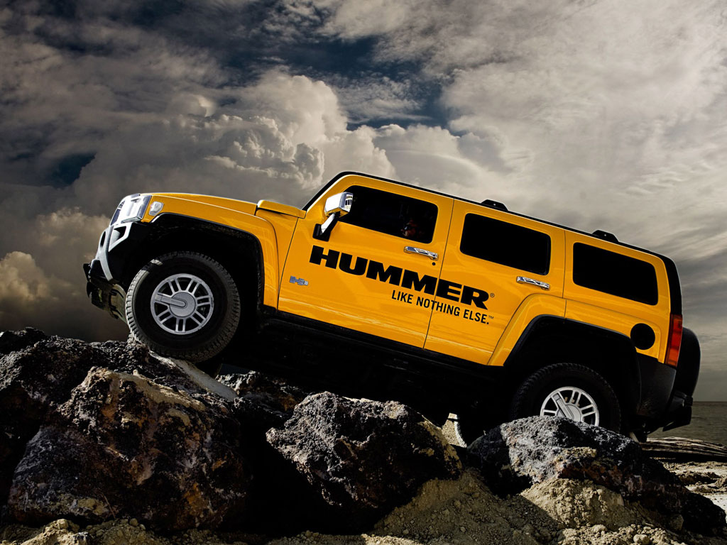 Wallpapers Yellow Hummer H3.