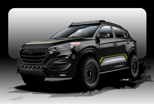 Hyundai Tucson от ателье Rockstar Performance Garage