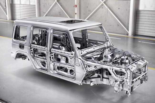 Структура кузова нового G-Class