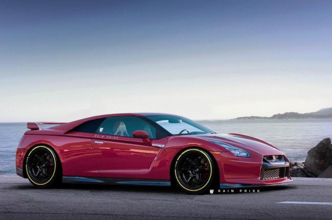 Так мог бы выглядеть среднемоторный Nissan GT-R