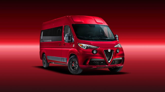 Рендер фургона Alfa Romeo